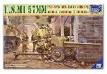 35019 U.S.M1 57mm Anti-Tank Gun (Early Version) on M1A3 Carriage (5 Figures)