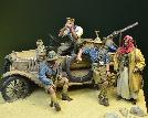 35124 - WWI Anzac Desert Patrol - LCP Ford T crew with Ford T accessories
