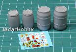 E-039 1/35 Plastic Chemical Storage Drums Set#1