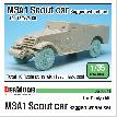 DW30041 WW2 U.S M3A1 Scout car Sagged wheel set (for Tamiya 1/35)