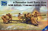 RV35044 6 Pounder Anti-Tank Gun with British/Commonwealth Crew