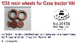 35458 1/35 Resin wheels for tractor Case VAI