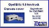 35103 Opel Blitz 1.5 ton truck Canvas cover Upgrade set for ICM 35401