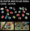 BL35276K   DIORAMA RECYCLED SODA CANS - 24 PCS