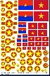 North Vietnam roundels Viet Cong 1/32 1/35 1/24 1/25 1/48 1/72 Decals T-34 T-55