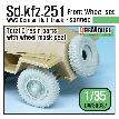 DW30037 WW2 German Sd.kfz.251Half-track front wheel set - sagged ( for 1/35)