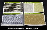 DD135-J Tile floors VALUE PACK  4 designs (E/F/G/H)