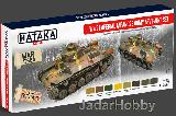 HTK-AS69 WW2 Imperial Japanese Army AFV (paint set 8 x 17ml)