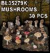 BL35279K   DIORAMA MUSHROOMS - 30 PCS