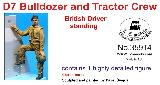 35914 D7 Bulldozer and Tractor crew - British driver standing