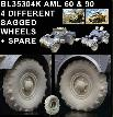 BL35304K   MODERN AML 60 & 90 4 DIFFERENT SAGGED WHEELS + 1 SPARE