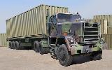 01015 M915 Tractor with M872 Flatbed trailer & 40FT Container