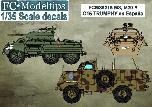 35215 M8, M20 y Trumphy in Spain, 1/35 scale decals