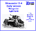 35137  Straussler V-4 Early version Hungarian light tank WWII 1/35