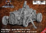 DK35-003 The Wasp with Natasha posing - Steam Punk Vehicle / 1:35