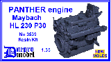 3539 PANTHER engine Maybach HL 230 P30  1/35 WWII New molds