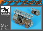 T35190 1\35 Jeep Willys CJ2A Fire truck conversion set