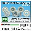 DW35101 Japanese Civilian Truck Sagged Wheel set ( for Diopark 1/35)