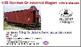 35117 1/35 German Gr covered wagon with brake cab