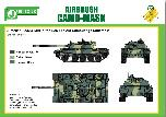 PPA5166 Airbrush CAMO-MASK for 1/35 T55 AM Camouflage Scheme 2
