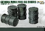 L3513 WWII German 200L Oil Drums