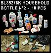 BL35278K   DIORAMA HOUSEHOLD BOTTLE N°2 - 18 PCS