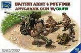 35042 British Army 6 Pounder Anti-Tank Gun w/Crew