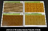 DD135-I Wooden floors VALUE PACK  4 designs (A/B/C/D)