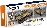 "HTK-CS69 ""WW2 Imperial Japanese Army AFV"" (paint set 8 x 17ml) ORANGE LINE - LAQUER OPTIMISED FOR AIRBRUSH"