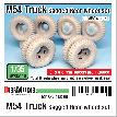 DW35110 US M54A2 Cargo Truck Sagged Rear wheel set ( for AFV club 1/35)