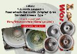 LW038 - 1:35 scale Leopard 1 Road wheels and idlers with 'Dimpled' tyres, Standard wheels 'Type 1'