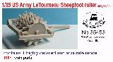 35453 1/35 US Army LeTourneau Sheepfoot roller  single unit